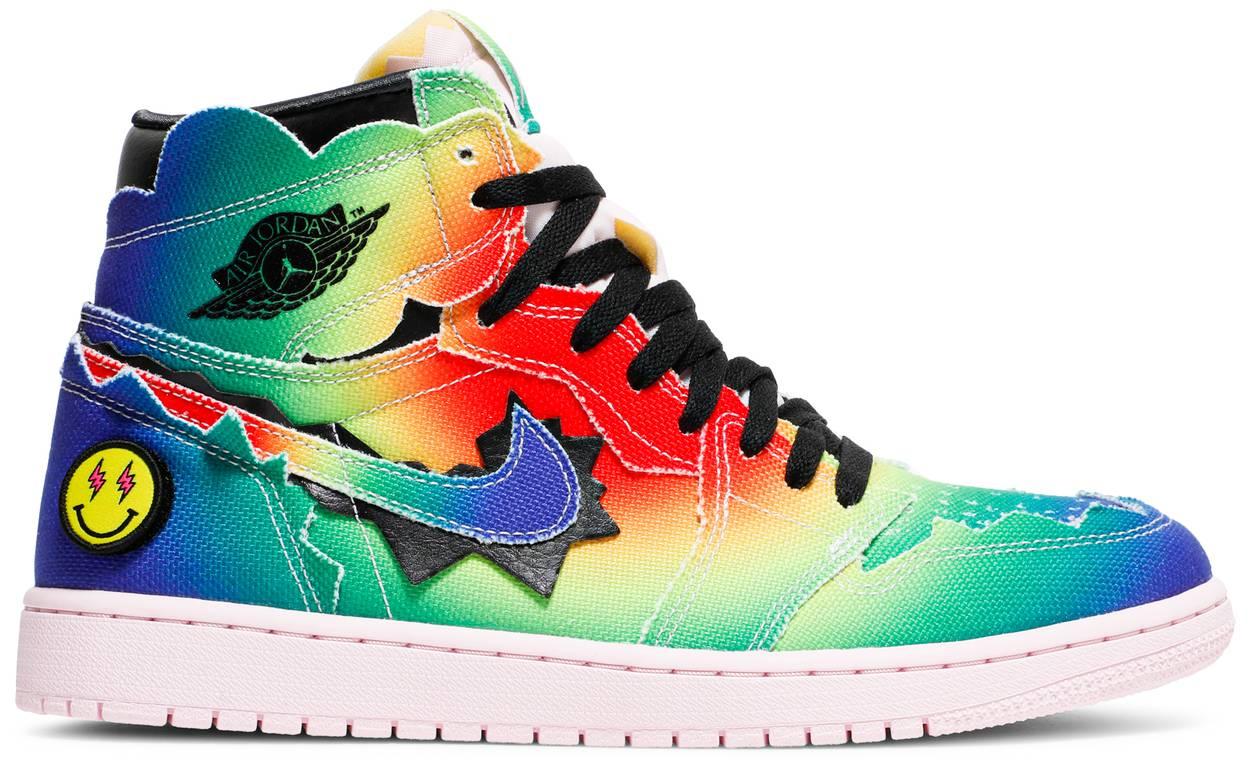 Tênis J. Balvin x Air Jordan 1 Retro OG High Colores Y Vibras