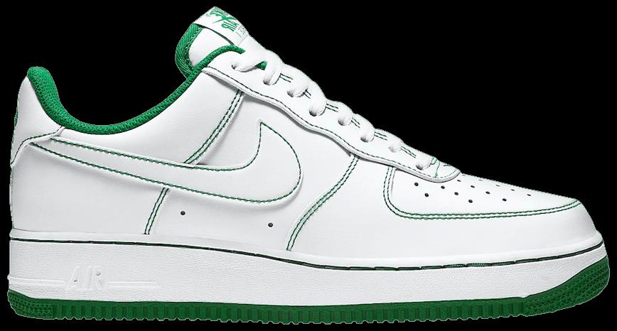 Tênis Nike Air Force 1 '07 Contrast Stitch - White Pine Green