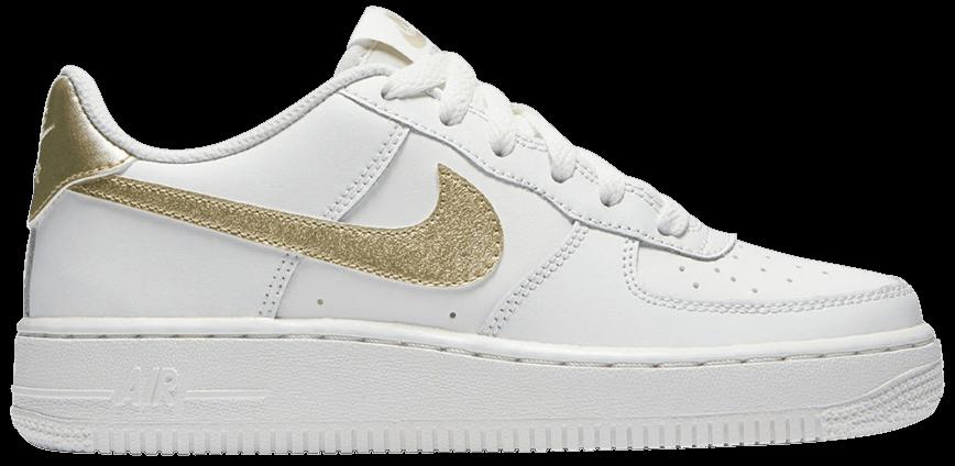 Tênis Nike Air Force 1 GS Summit White Gold