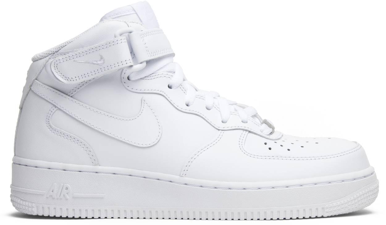 Tênis Nike Air Force 1 Mid Triple White