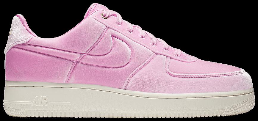 Tênis Nike Air Force 1 Low '07 Premium Pink Velour