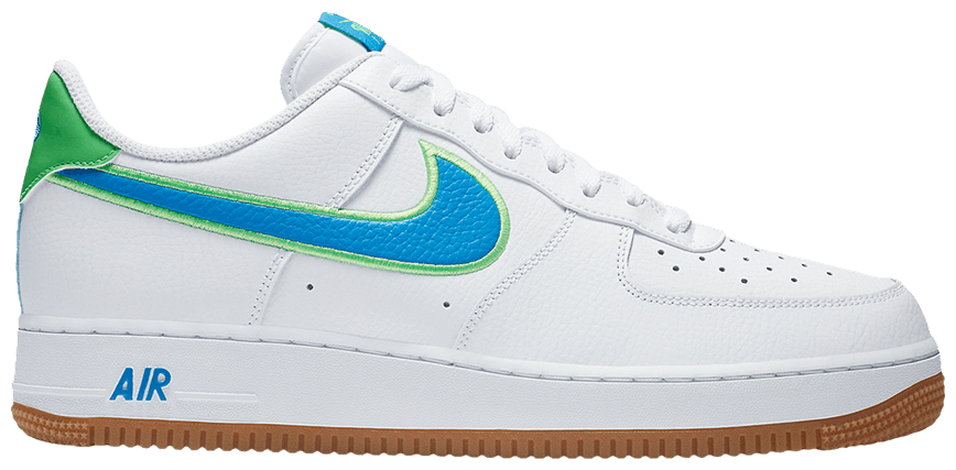 Tênis Nike Air Force 1 Low White Bright Blue Green