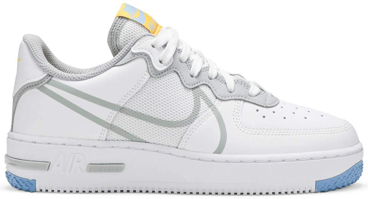 Tênis Nike Air Force 1 React Smoke Grey Gold