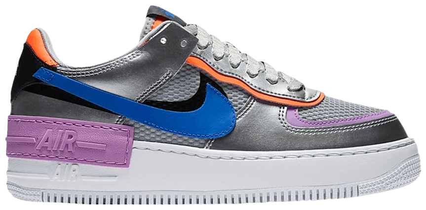 Tênis Nike Air Force 1 Shadow Metallic Silver