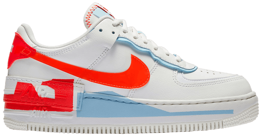 Tênis Nike Air Force 1 Shadow SE Team Orange Blue