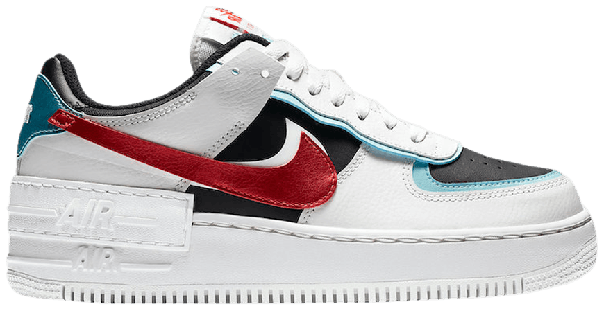 Tênis Nike Air Force 1 Shadow White Bleached Aqua