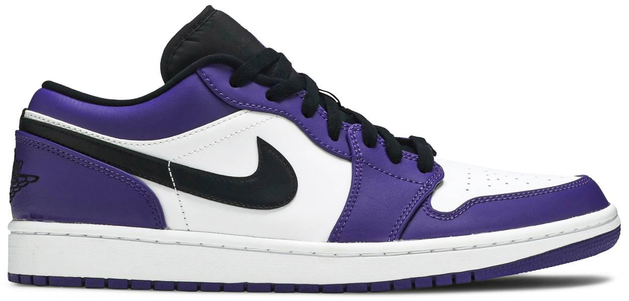 Tênis Air Jordan 1 Low Court Purple