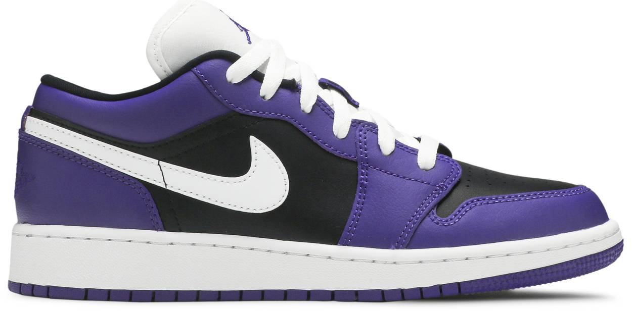 Tênis Air Jordan 1 Low GS Black Court Purple