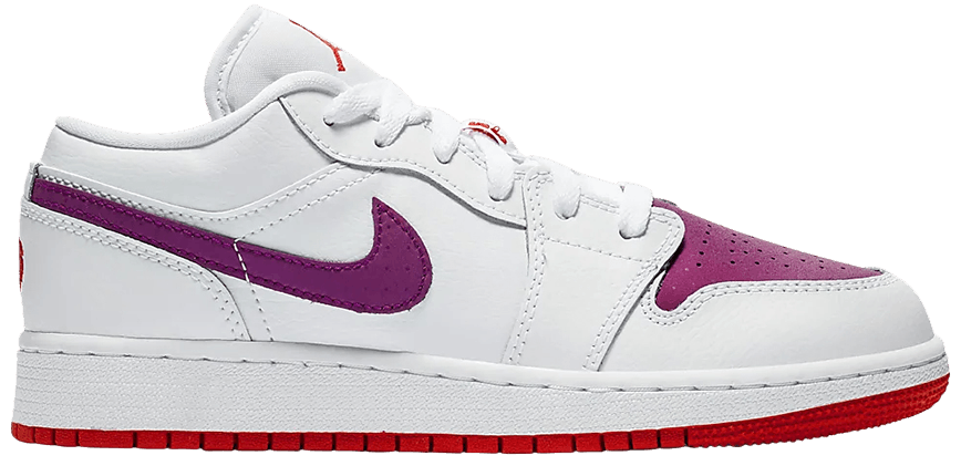 Tênis Air Jordan 1 Low GS White Berry
