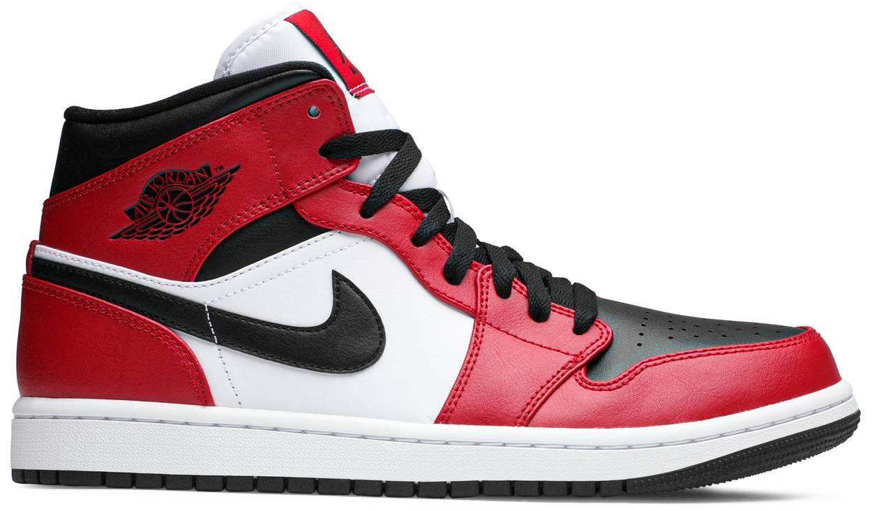 Tênis Air Jordan 1 Mid Chicago Black Toe
