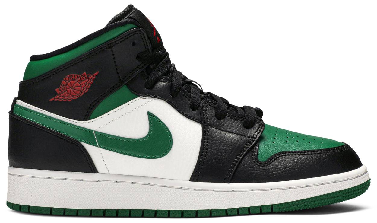 Tênis Air Jordan 1 Mid GS Black Pine Green