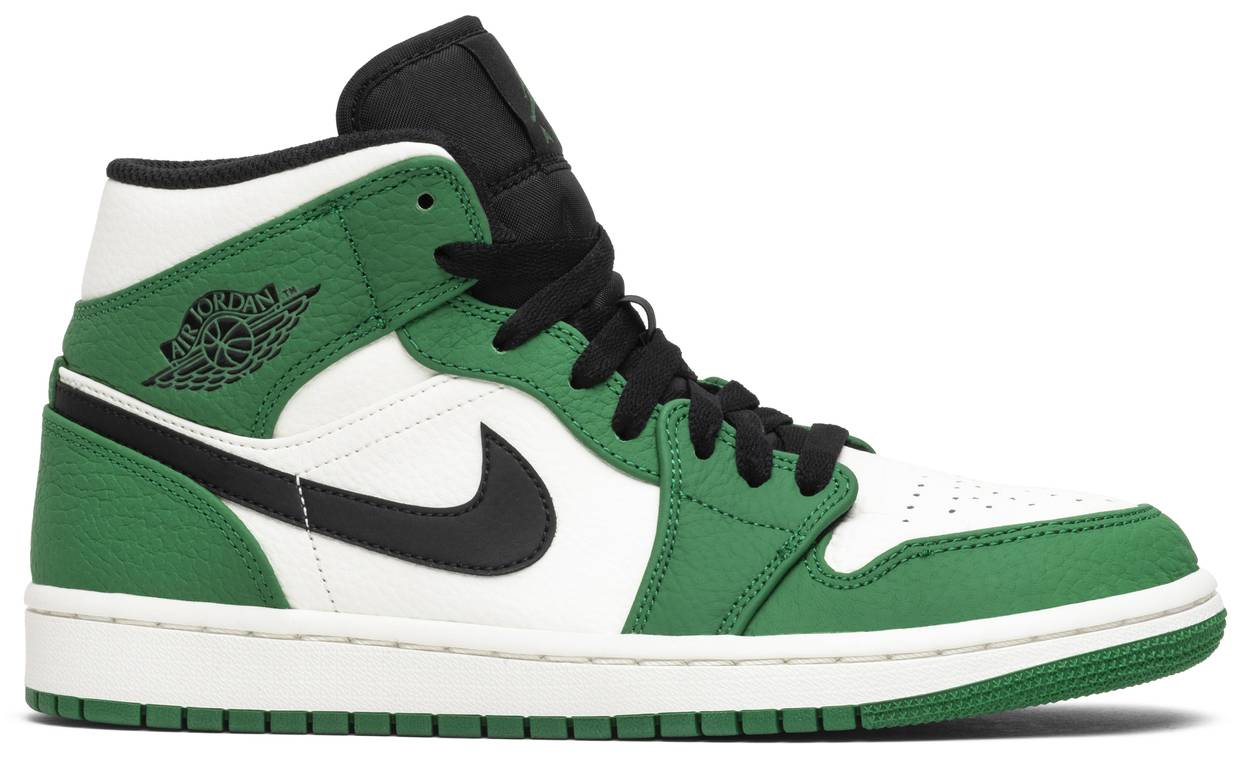 Tênis Air Jordan 1 Mid Pine Green
