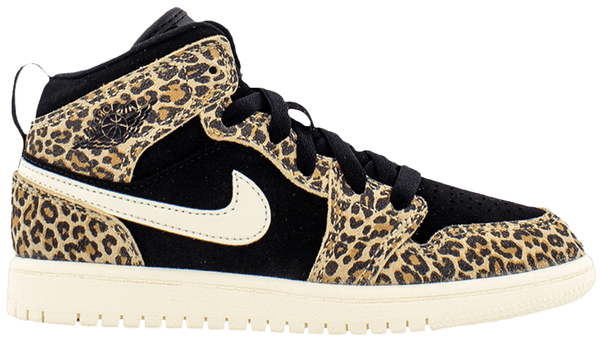 Tênis Air Jordan 1 Mid SE PS Cheetah