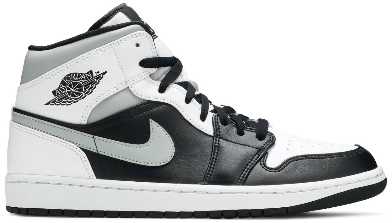 Tênis Air Jordan 1 Mid White Shadow