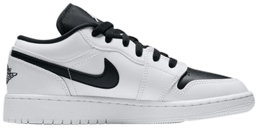 Tênis Air Jordan 1 Retro Low GS White Black