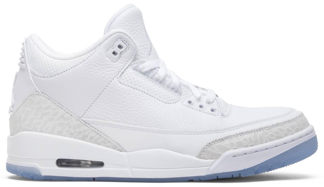 Tênis Air Jordan 3 Retro Triple White