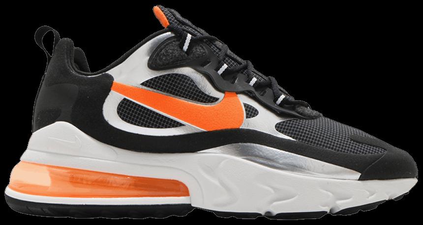 Tênis Nike Air Max 270 React Black Total Orange
