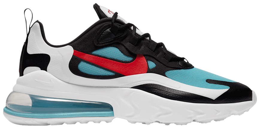 Tênis Nike Air Max 270 React Bleached Aqua Chile Red