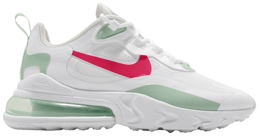 Tênis Nike Air Max 270 React White Pistachio Crimson