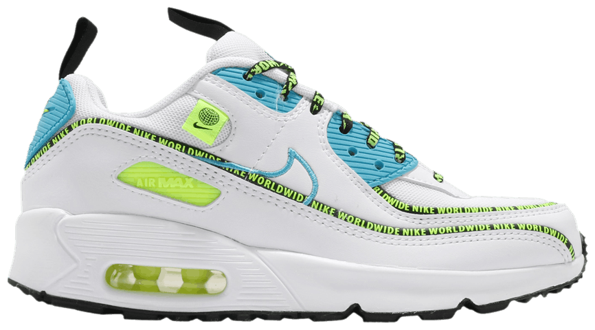 Tênis Nike Air Max 90 SE GS Worldwide Pack - Blue Fury Volt