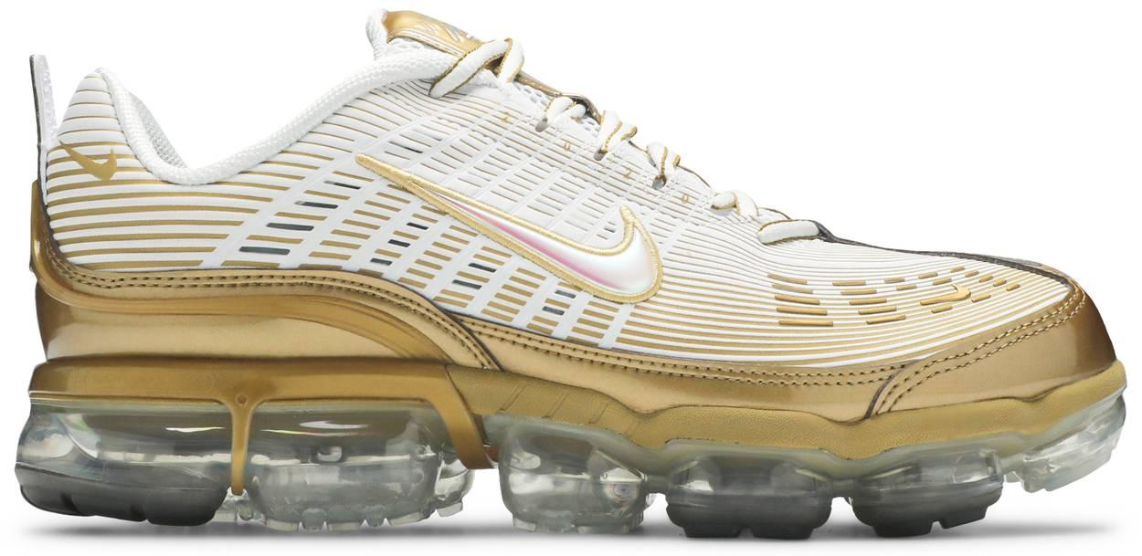 Tênis Nike Air Vapormax 360 White Metallic Gold