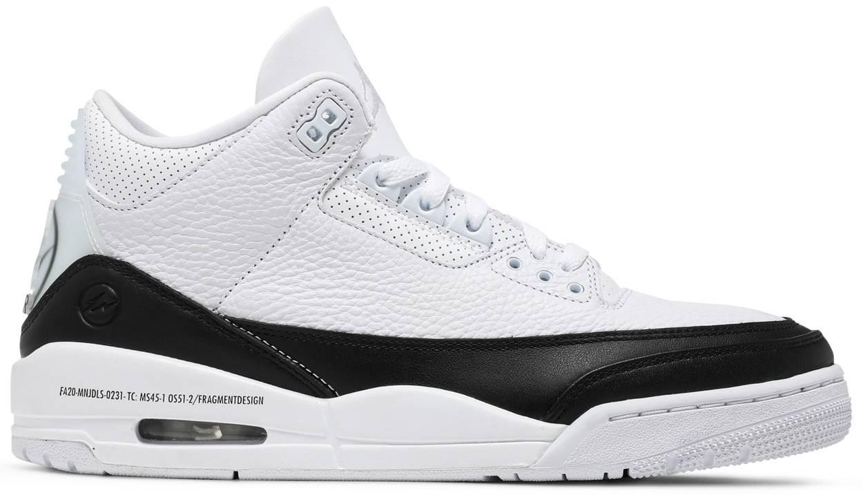Tênis Fragment Design x Air Jordan 3 Retro SP White