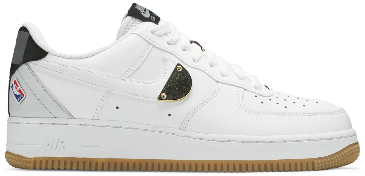 Tênis Nike NBA x Air Force 1 '07 LV8 White Pure Platinum