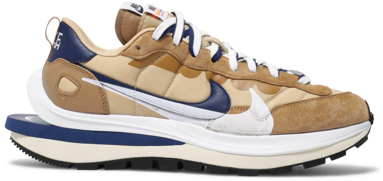 Tênis Nike Sacai x VaporWaffle Sesame Blue Void