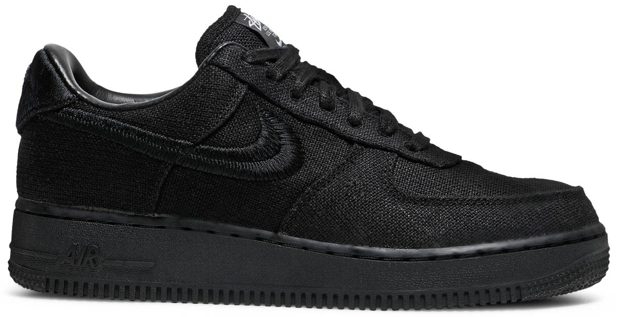 Tênis Nike Stussy x Air Force 1 Low Triple Black