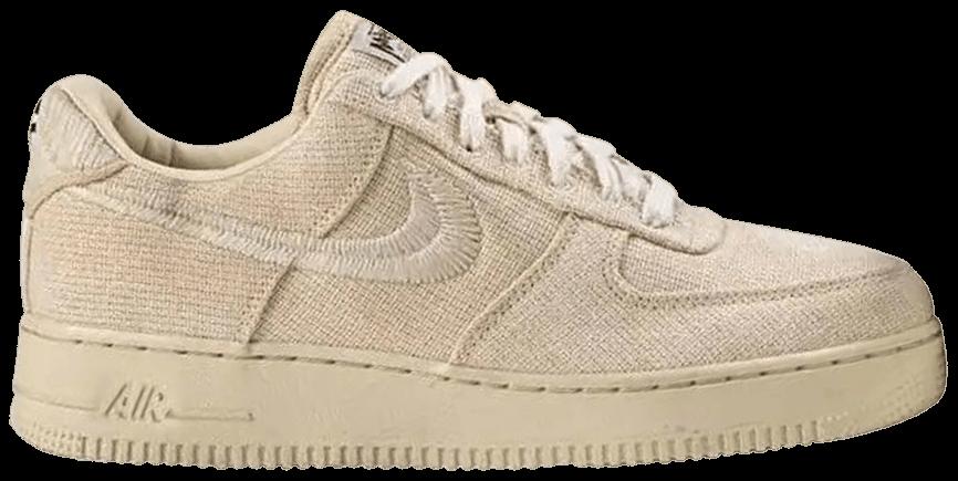 Tênis Nike Stussy x Air Force 1 Low Fossil