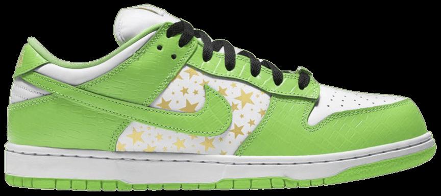 Tênis Nike Supreme x Dunk Low OG SB QS Mean Green