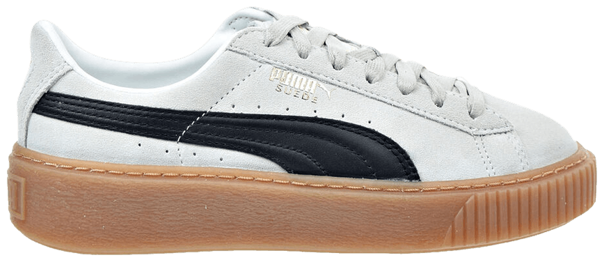 Tênis Puma Suede Plataform Whisper White Black