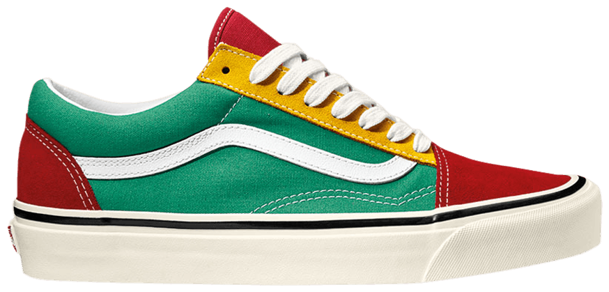 Tênis Vans Old Skool 36 DX Red Emerald Yellow