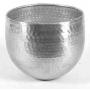 Vaso em aluminio liso  - M vaso em aluminio feito a mao