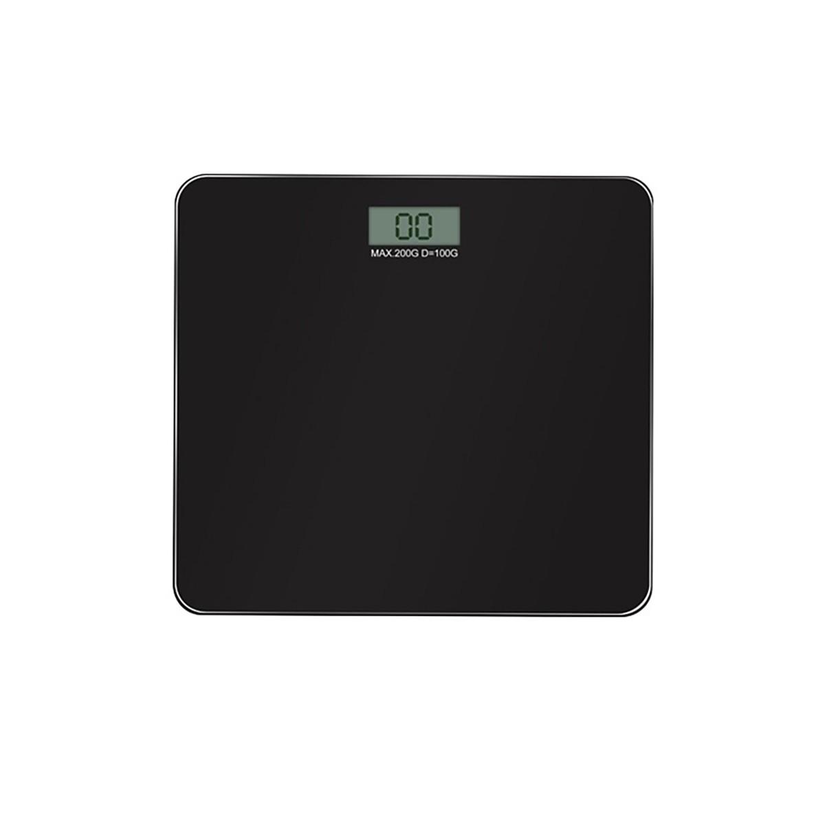 Balança Digital Corporal 200kg Vidro Preta