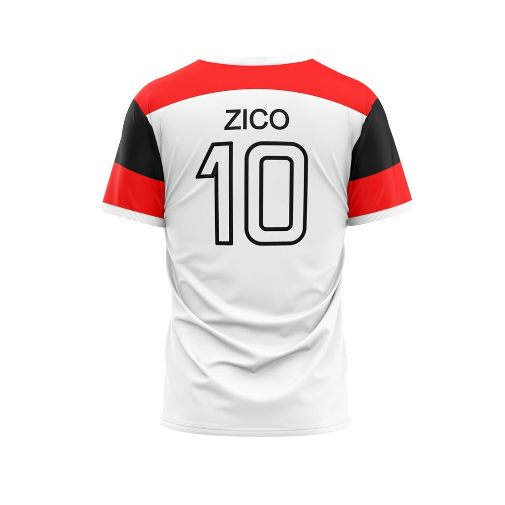 Camiseta Flamengo Branco- ZICO RETRO