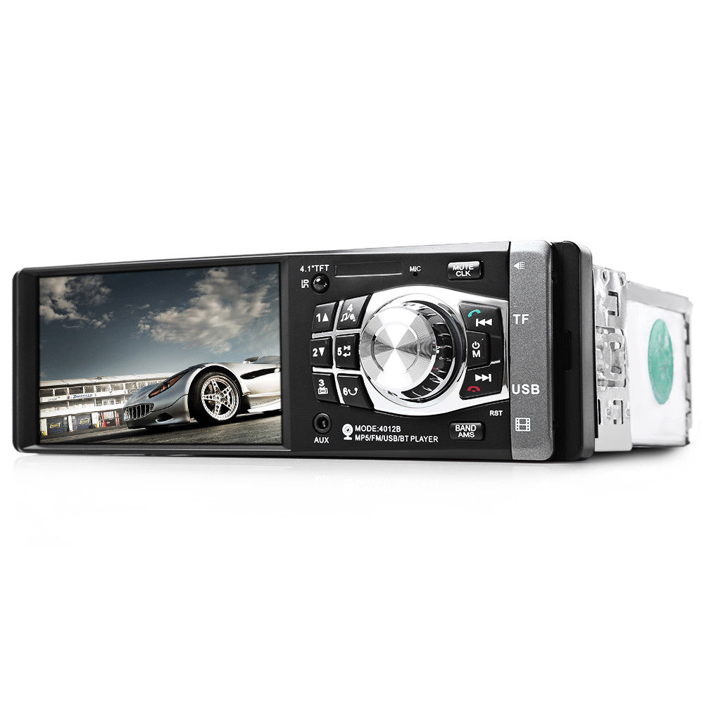 Central Multimidia 1 Din Radio Aparelho Automotivo USB Bluetooth SD
