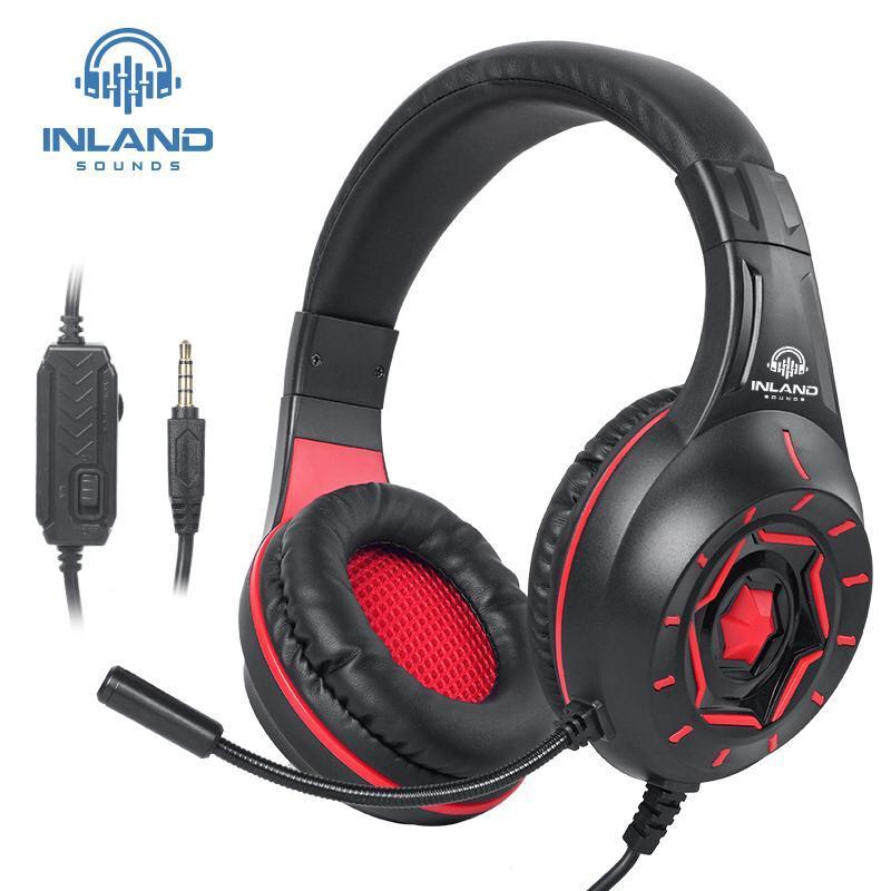 Fone De Ouvido Gamer Led Microfone Xbox Ps4 Pc P2 P3 Head