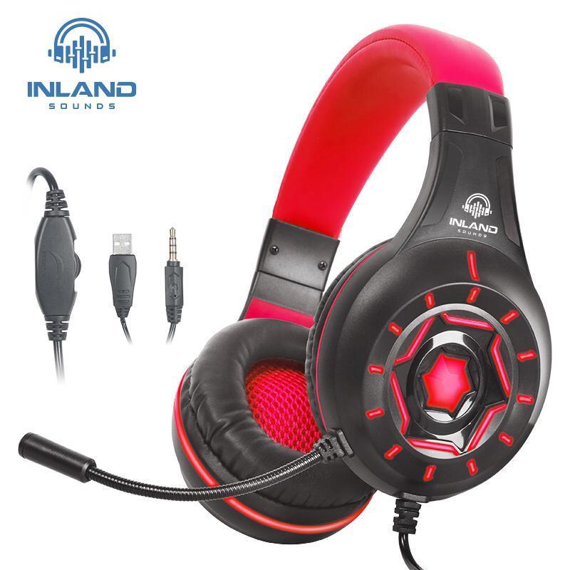 Fone De Ouvido Gamer Led Microfone Xbox Ps4 Pc P2 P3 Headset
