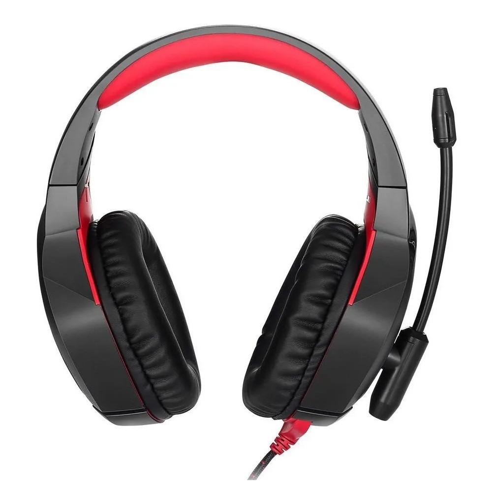 Fone de ouvido Headset Gamer Microfone Ps4/X-one Celular  K1B-PRETO-VERMELHO
