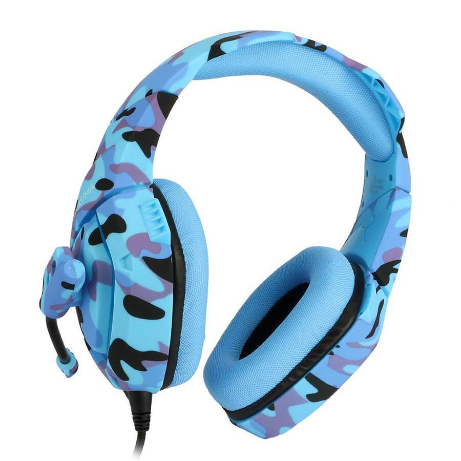 Fone de ouvido Headset Gamer Microfone Ps4/X-one Celular PC Camuflado Azul