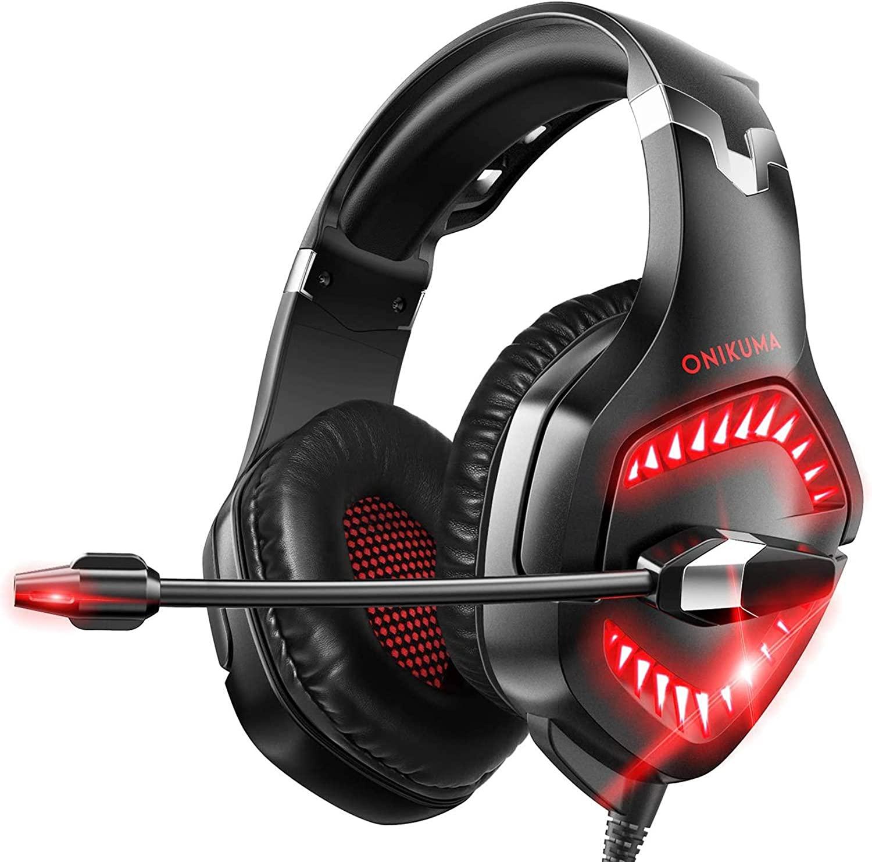 Fone de ouvido Headset Gamer Onikuma K1 Pro Vermelho Microfone Ps4/X-one Celular
