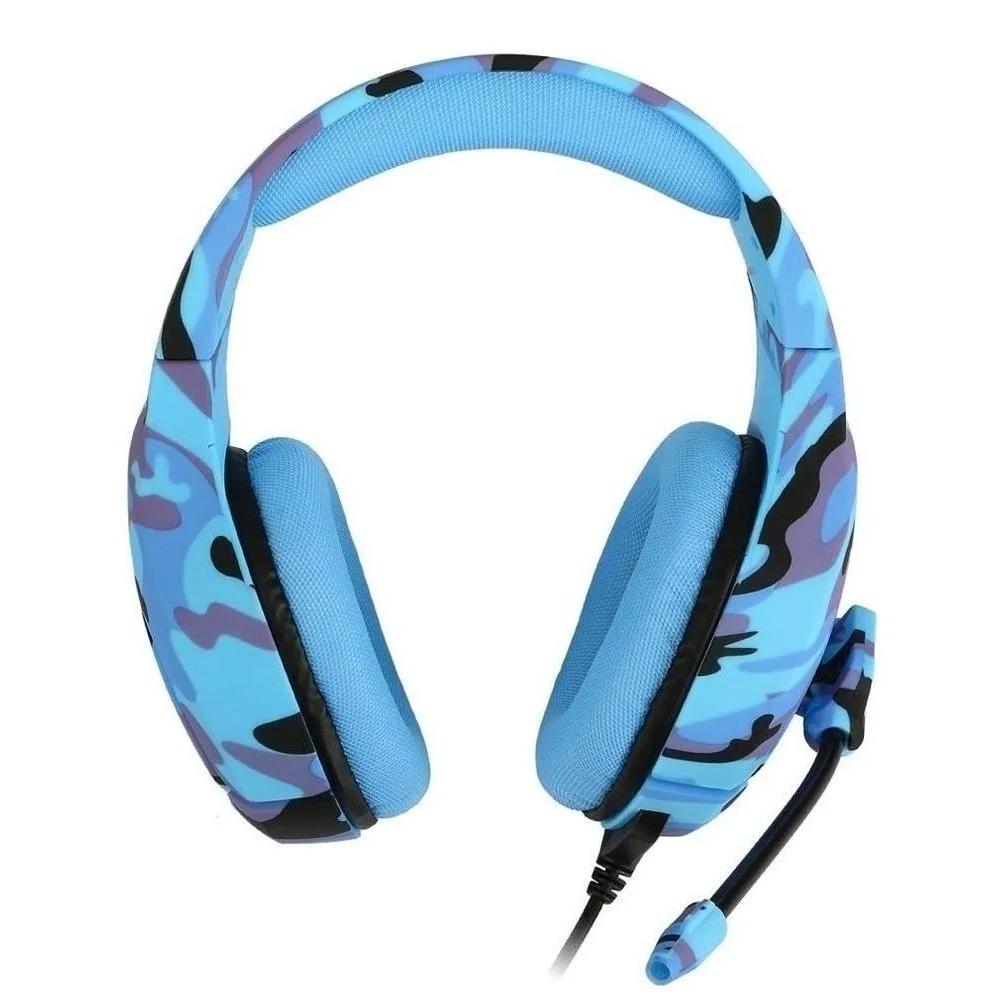 Kit Gamer com Headset Onikuma K1B Camuflado Azul, Teclado e Mouse Inland