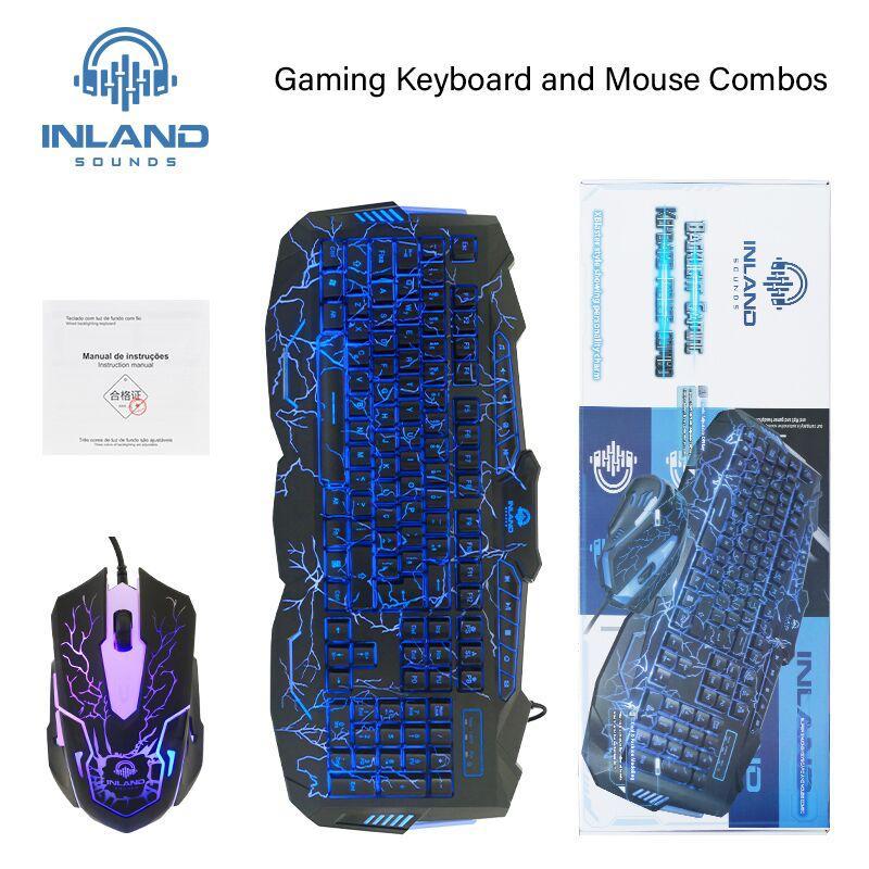 Kit Gamer com Headset Onikuma K1B Camuflado Cinza, Teclado e Mouse Inland