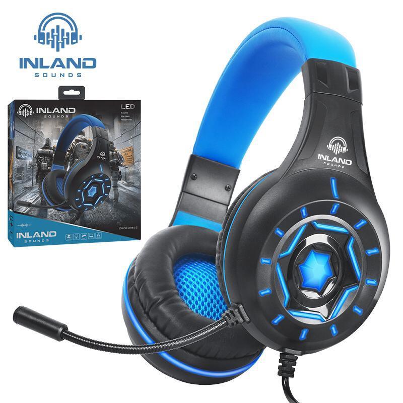 Kit Gamer com Headset Z315 Azul RGB, Teclado e Mouse Inland