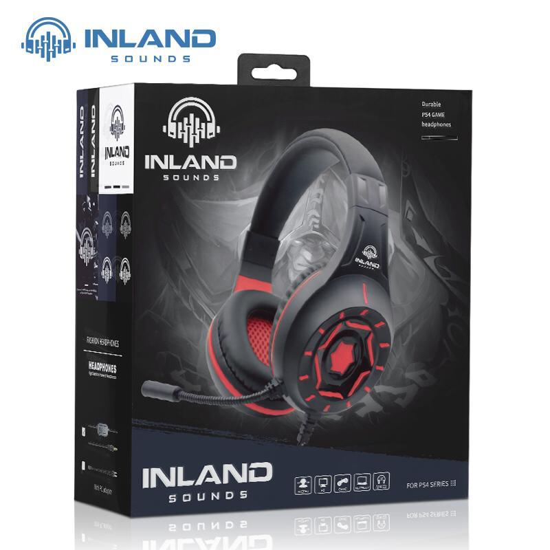 Kit Gamer com Headset Z90 Vermelho, Teclado e Mouse Inland