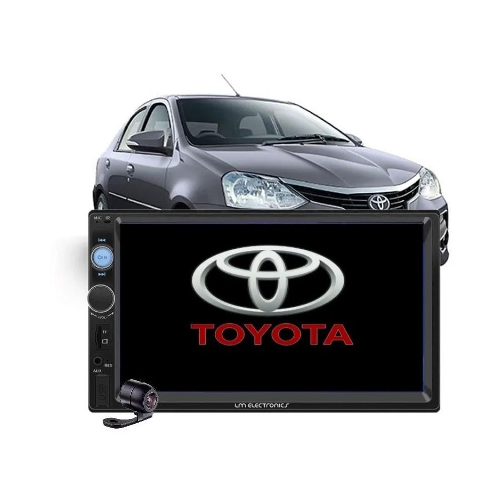 MP5 Player 7010 2din + Moldura Toyota Etios