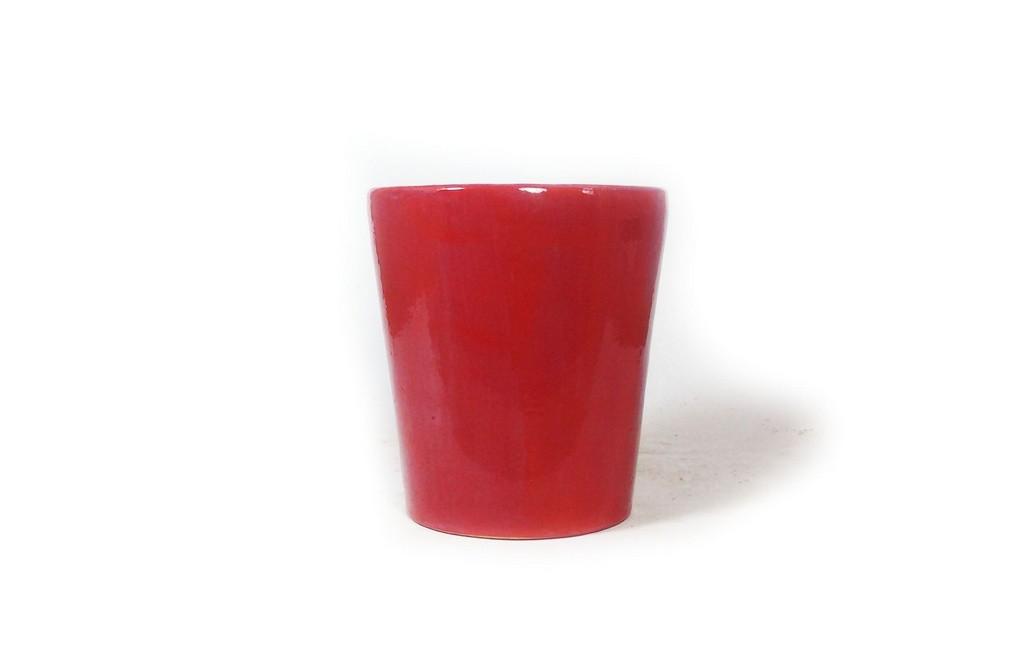 Vaso Bonsai Zezé Duchini Cascata Vermelho 10x09