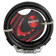 Cadeado de Segredo para Bicicleta Espiral Lock Zoli Fumê 1 M x 6mm
