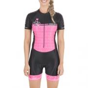 Macaquinho Ciclismo Hupi Rosa Love P/M/G